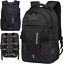 miniature 1 - New Mens Black Oxford School Backpack Satchel Laptop Casual Travel Bag 15""