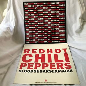 Red Hot Chili Peppers Bloodsugarsexmagik 2 Sided 12 X 12 Promo Lp Flat Poster Ebay
