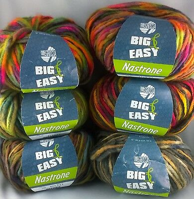 10.90 EUR pro 10 Lana Grossa Big /& Easy Nastrone 004 trifoglio print 100g Wolle