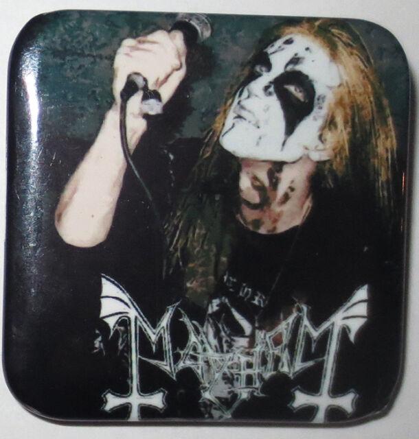 DEAD from MAYHEM pin / square button Black metal death Venom sarcofago watain