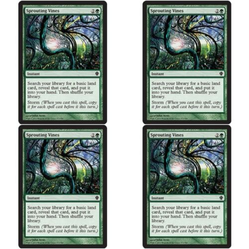 Instant Com 4 x SPROUTING VINES NM mtg Commander 2013 Green