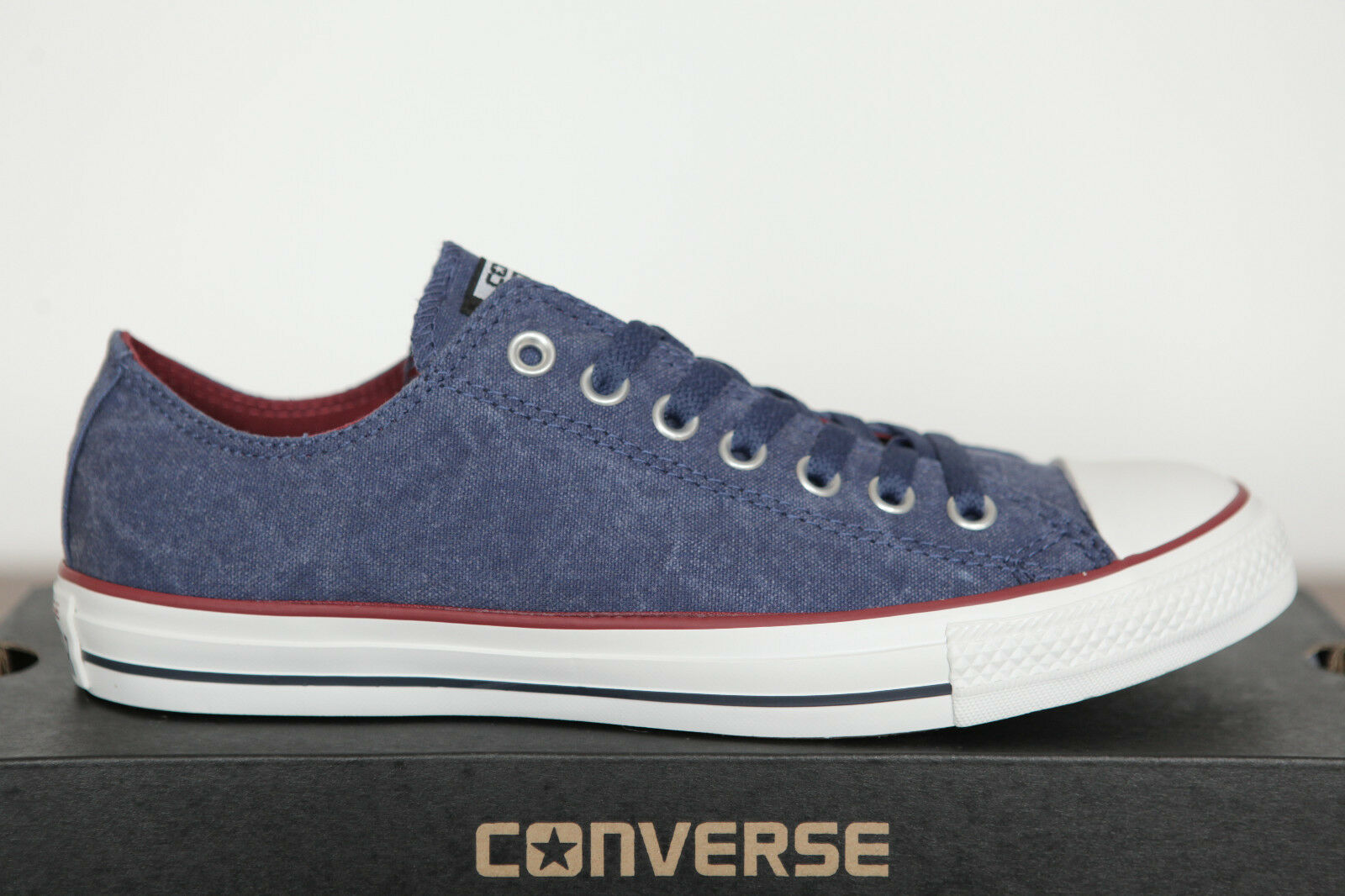 NUOVO ALL STAR CONVERSE Chucks Low Can 142235c Sneakers ensign blu lavato 142235c Can 37 TGL b44899