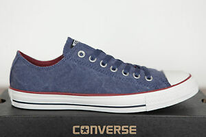 Blu Chucks Sneakers Star Ensign Lavato 142235c Low All 37 Converse Nuovo Can Gr n168f