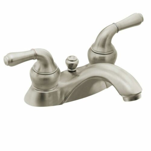 Moen 4551BN Monticello Two-handle Centerset Lavatory Faucet Brushed ...
