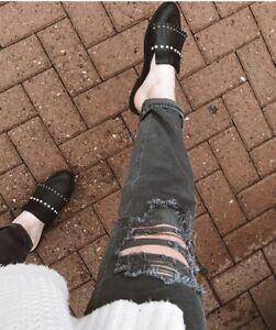 Women's Black Karoline Studded Fringe