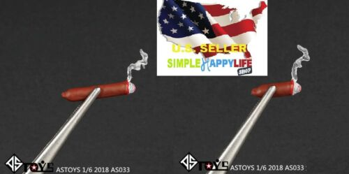 2 x 1//6 lighted Cigar short /& Long Cigars toy Model for phicen hot toys ❶USA❶