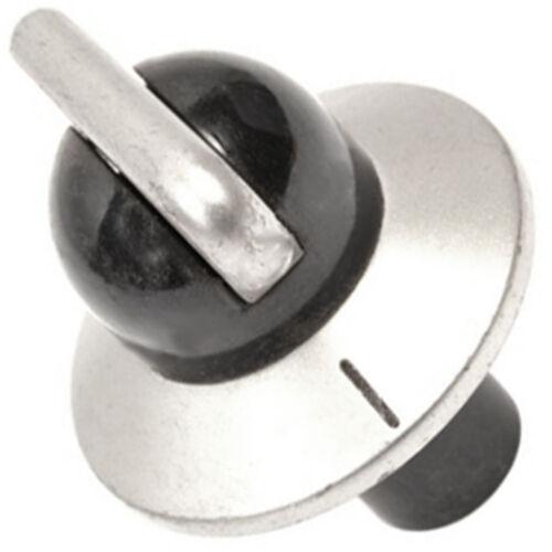 DELONGHI DFG901SS Forno Fornello Manopola Interruttore di controllo della temperatura Argento Nero