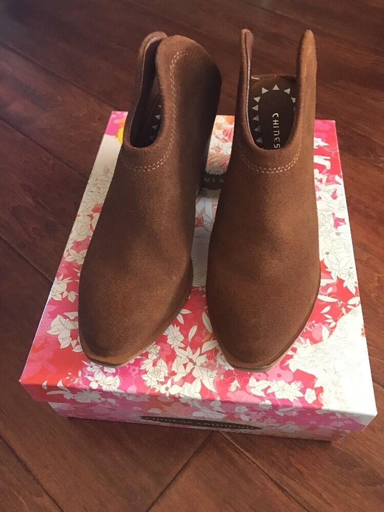 NEU Damens Chinese Laundry Schuhe, Braun With A 3' or Higher Heel, Slip On,