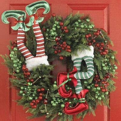 """NEW~RAZ Imports~4/"""" x 5 Yards~Embroidered Wired Ribbon~Christmas Wreath//Swag//Tree"""