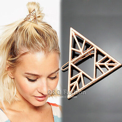 Blogger Rose Gold Triangle Arrow French Updo Hair Pin Clip Dress Snap Barrette W