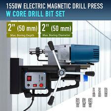21hp 2 Magnetic Drill Press W 6 Core Drill Bits 3500lbf Best Drilling Machine