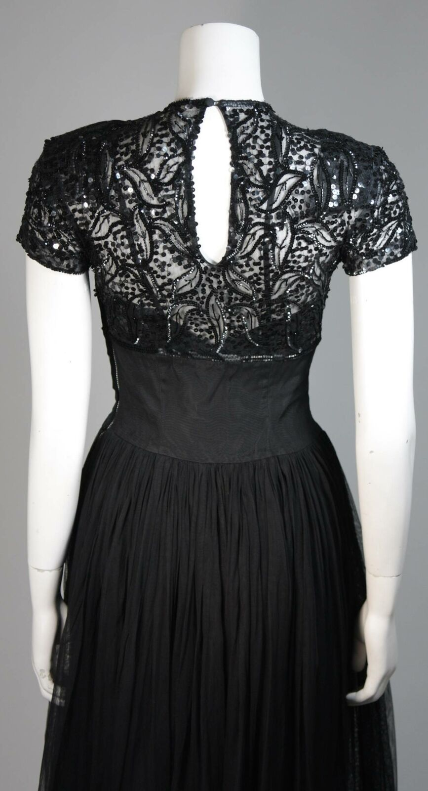 CEIL CHAPMAN Attributed Black Gown Size Small - image 8