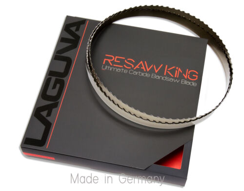 """1/"""" X 12-14-16mm Vari Tooth Pitch X 132/"""" Resaw King Carbide Tipped Bandsaw Blade"""
