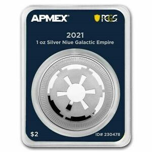 2021 Niue 1 oz Silver Star Wars Galactic Empire MD Premier PCGS FS