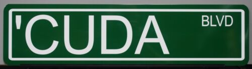 METAL STREET SIGN CUDA BLVD FITS HEM PLYMOUTH  BARRACUDA 340 360 383 440 426