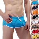 New 2015 Mens Swimwear Hot Swimming Trunks Tether Sexy Boxers Men Beach Shorts
