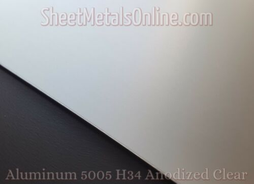 "Aluminum Sheet Metal 5005 Clear Anodized 0.063/""//16 Gauge 24/"" x 15/"""