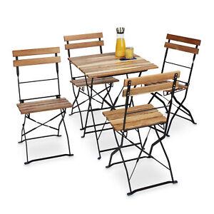 Gartenstuhl-4er-Set-aus-Metall-und-Naturholz-klappbar-Balkonstuhl-ohne-Armlehnen