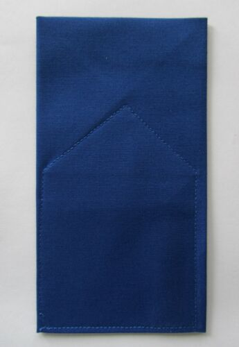 Pocket Square Kona Cotton Flat Top  Pre-folded /& Sewn ready to slip in pocket