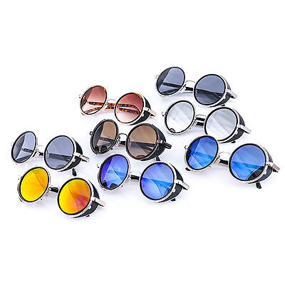 Cyber Goggles Steampunk Sunglasses  Mirror lens Round Halloween Punk Party Fun