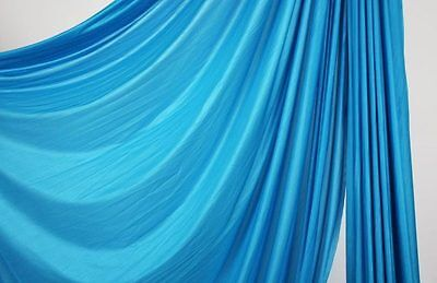 108 inches wide Aqua Blue Aerial Silk