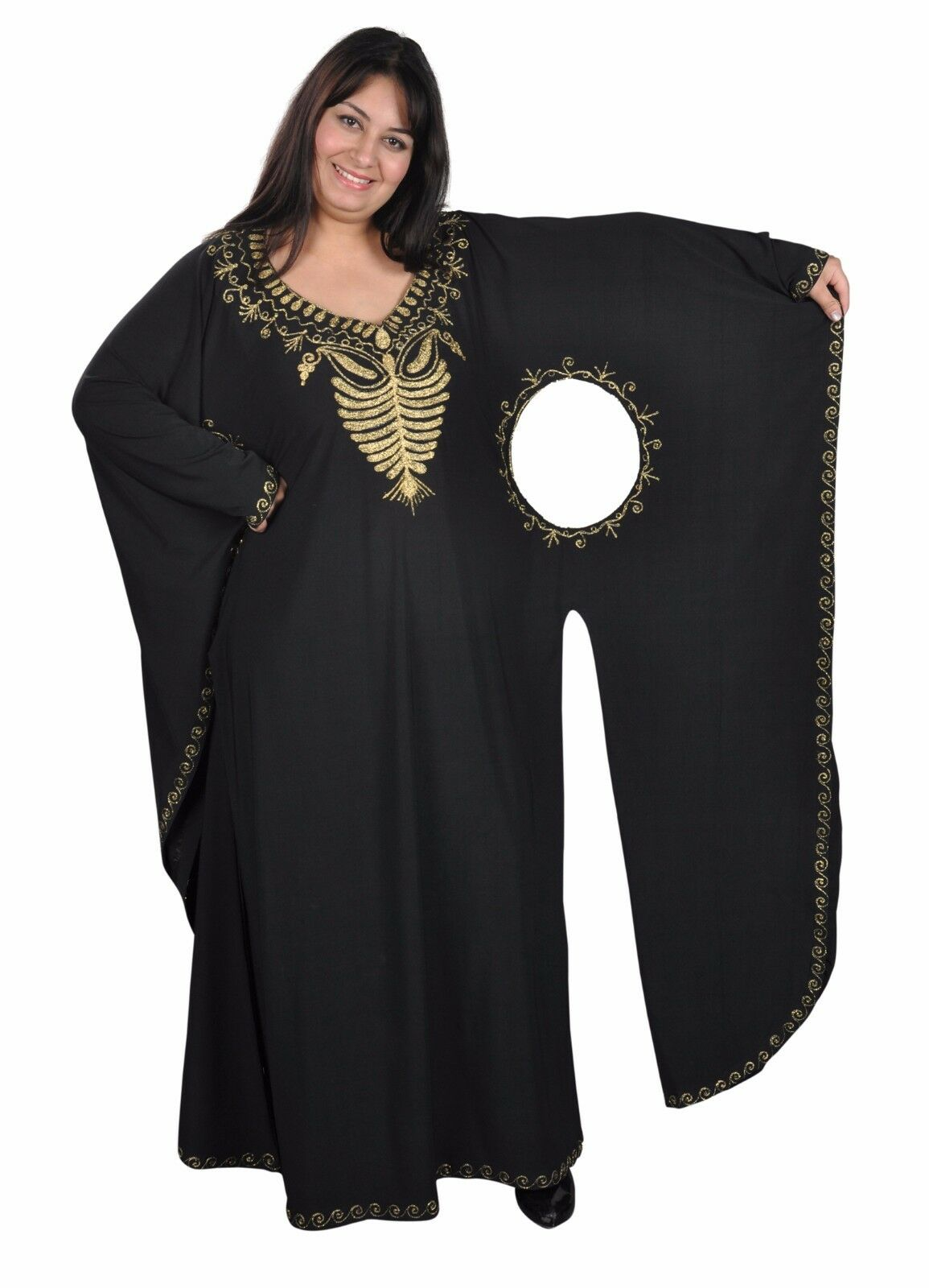 Extravagant Caftan Dress Evening Dress Party Dress with gold Embroidery
