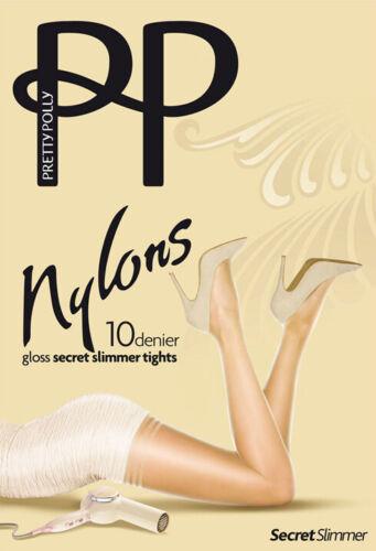 Pretty Polly Nylons ~ GLOSS SHAPER ~ 10 denier tights BNWT nude