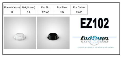 10.0 mm x 3.2 mm Caoutchouc Pare-chocs Pieds Collant Bumpons polyuréthane transparent noir EZ102