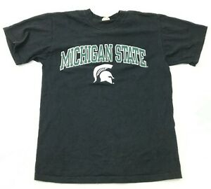 Michigan-State-Spartans-Men-039-s-Shirt-Size-Large-L-Black-Green-Graphic-Spell-Out-T