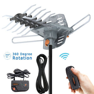 200-Mile-1080P-4K-HDTV-Outdoor-TV-Antenna-Motorized-Amplified-36dB-360-Rotation