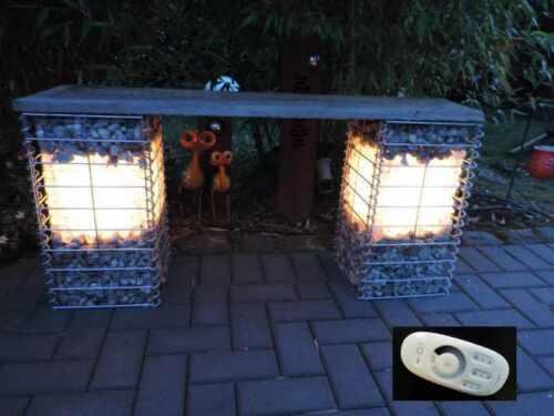 Led Leuchte für Gabione Steinmauer dimmbar Leuchte LED 1m länge warmweiß #197