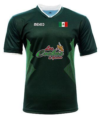 Jersey Mexico Los Cochos de Guerrero 100/% Polyester BlackGrey/_Made in Mexico