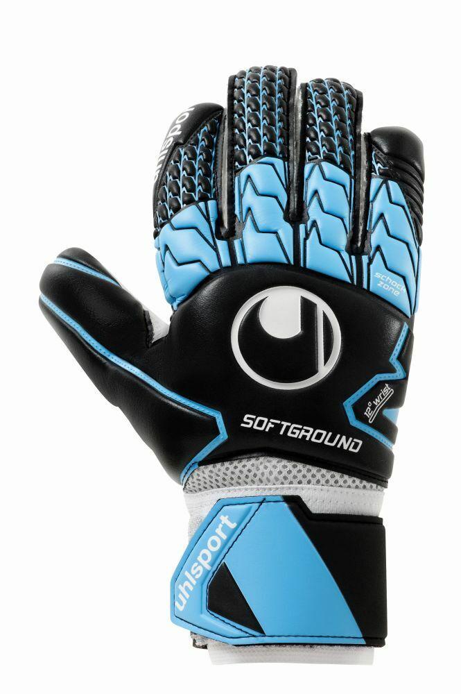 Uhlsport Fußball Fußball Fußball Soft HN Comp Torwart Handschuhe Herren schwarz blau weiß e8cf69
