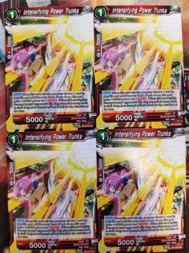 Intensifying Power Trunks 4x BT4-012 UC Dragon Ball Super PLAYSET
