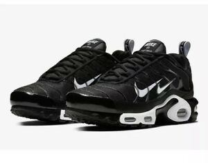 finest selection 46047 49945 Details about Nike Air Max Plus PRM TN Men's Sz 9 Black/White Running Shoes  815994 004 NO BOX