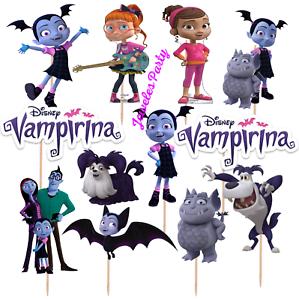 VAMPIRINA-CUPCAKE-CAKE-TOPPER-DECORATION-PARTY-SUPPLIES-BALLOON-BANNER-TOPPERS