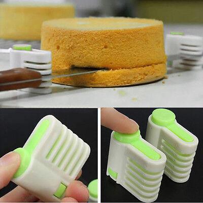 2pcs 5 Layers Kitchen DIY Cake Bread Cutter Leveler Slicer Cutting Fixator Tool