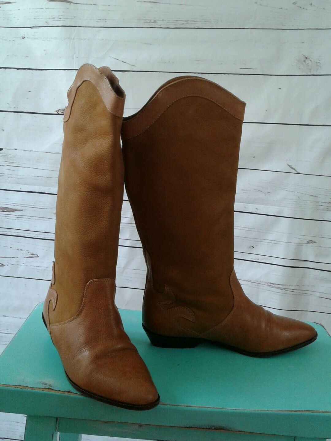 Mario Bruni Womens Boots Made in Italy Soft Leather Upper Leather Sole sz. 5 1/2