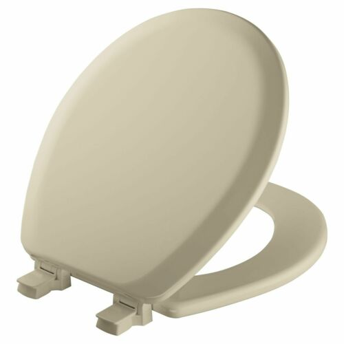 MAYFAIR Round Molded Wood Toilet Seat with Seat Fastening System and Easy Clean