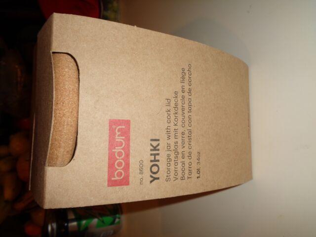 Cork Bodum 8650-109-2 Yohki Storage Jar with Cork Lid 2 L//68 oz