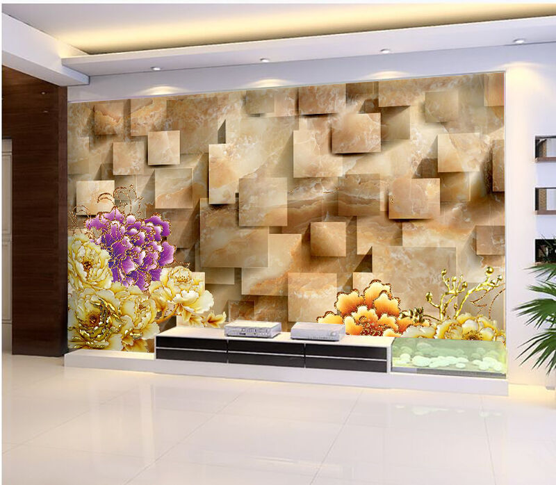 3D D'or Violet 51 Photo Papier Peint en Autocollant Murale Plafond Chambre Art