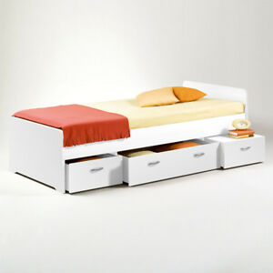 Kojen Bett Boro Jugendbett Kinderbett Funktionsbett Einzelbett Weiß