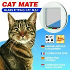Cat Mate Glass Fitting 4 Way Locking Cat Flap White 210w