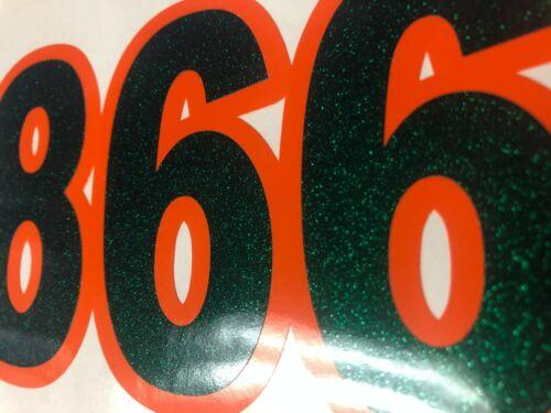 Metallic Custom Boat Registration Numbers Decals Vinyl Lettering JET SKI SEADOO