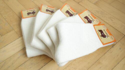 Naturel Pure Merino Wool UNPAINTED Seamless Men Socks-5 Pairs Pack *Winter*