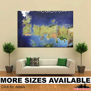 Details about Wall Art Canvas Picture Print - Game of Thrones The Known on game of thrones continents, game of thrones world map pdf, game of thrones maps and families, ice and fire world map, sca known world map, game of thrones chart,