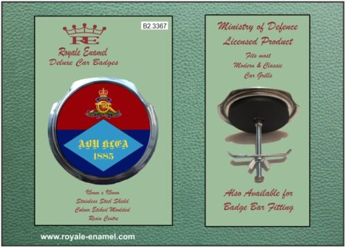 Royale Car Grill Badge + Fittings - ABU KLEA BATTERY ROYAL ARTILLERY - B2.3367
