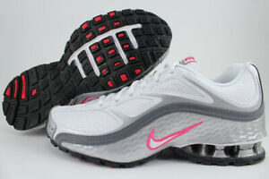 NIKE-REAX-RUN-5-WHITE-PINK-SILVER-GRAY-BLACK-RUNNING-TRAINER-TORCH-US-WOMEN-SIZE