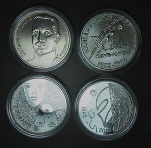 2002,2003,2005,2006 FINLANDE 10 euro COMMEMORATIVE (Total 4 pieces)