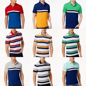 NEW-TOMMY-HILFIGER-Mens-POLO-T-SHIRT-all-sizes-NWT-blue-green-yellow-red-white